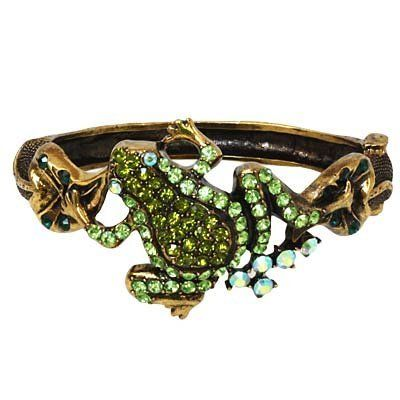 Rhinestone Crystal Green Frog Antique Looking Bangle Bracelet Fashion Jewelry Lamont. $12.95. Comes in a Gift Box. Beautiful Style. Brand New