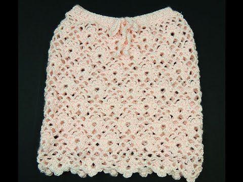 Falda tejida a crochet, varios talles (1 de 2) - Tutorial paso a paso - YouTube