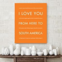 SOUTH AMERICA Travel Art Print | Gift Idea | HopSkipJumpPaper    Home decor, wall art, gift idea for travelers