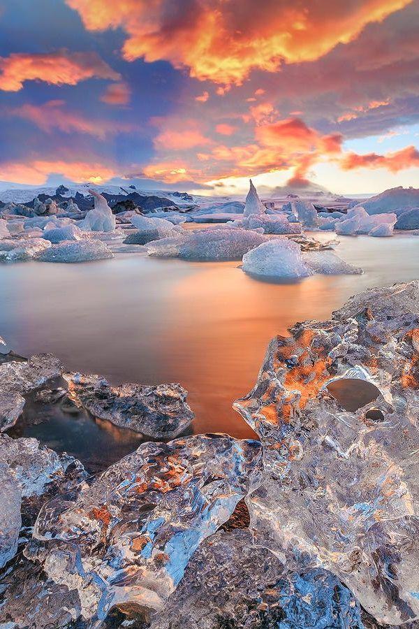 Ice candles ~ Jökulsárlón, Iceland