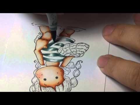 Coloring Video: Tilda in Key Largo - YouTube