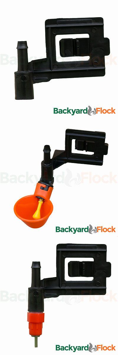 Backyard Poultry Supplies 177801: 100 Pack Cage Coop Hose Brackets For Chicken Poultry Water Drinker Cups Nipples BUY IT NOW ONLY: $99.95