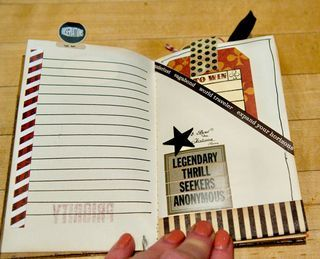 How to turn a notebook page into a pocket page (so simple I'm wondering why I didn't think of it myself). Plus a fabulous mini-album.