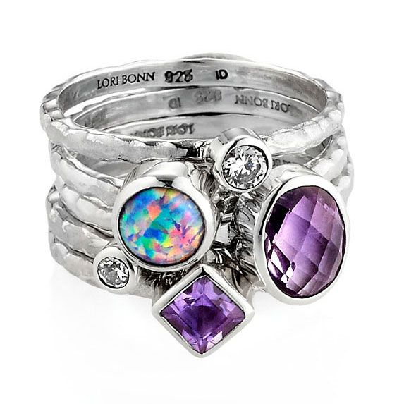 Lori Bonn Miss Congeniality Stack Ring $198 so I know it's a dream but it's so pretty!
