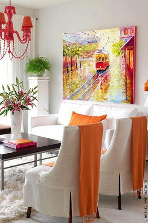 """Купить картина """"Апрельские дожди"""" - париж городской пейзаж, весна вечер улицы дождь"""