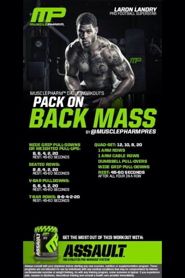 Pack on back mass