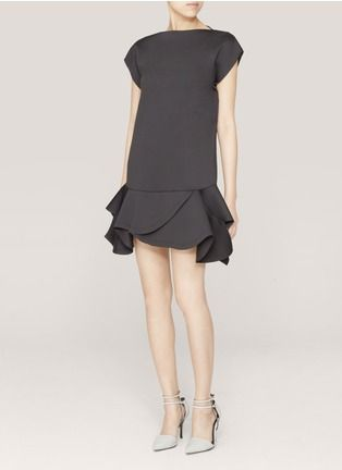 Givenchy - Ruffled neoprene dress | Black Cocktail Dresses | Womenswear | Lane Crawford - Shop Designer Brands Online