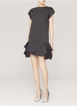 Givenchy - Ruffled neoprene dress | Black Cocktail Dresses | Womenswear | Lane Crawford - Shop Designer Brands Online