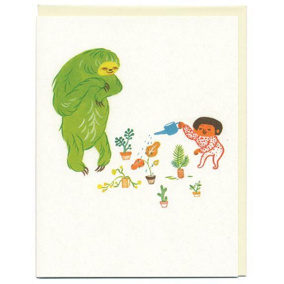 Sloth Card by Ayumi Piland