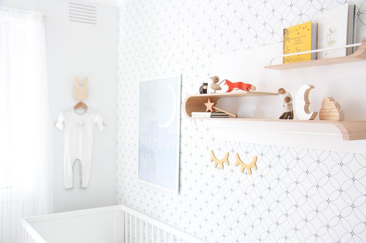 Kaleidoscope wallpaper by BC Magic Wallpaper featured by in @topknotmum's beautiful neutral nursery 😄💕
