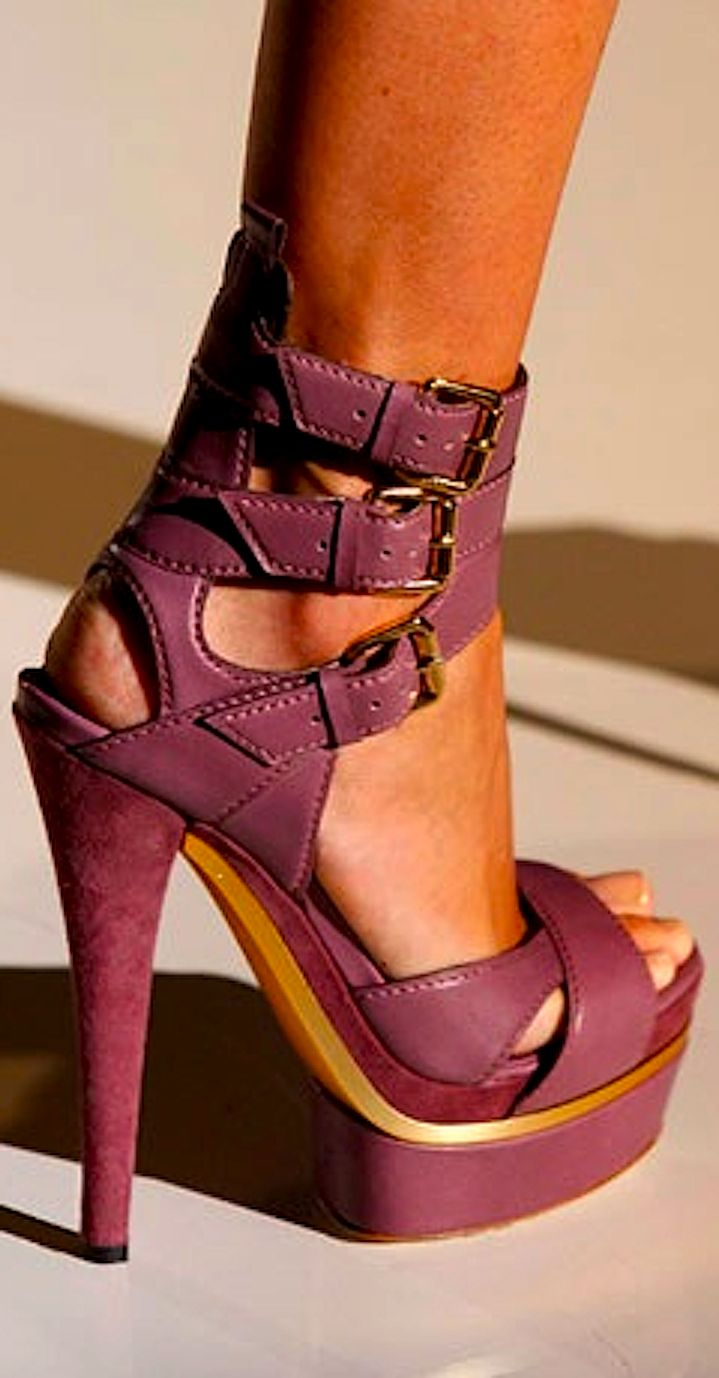 In shoes - Amazing statement sandals perfect for a strong image in a soft dress