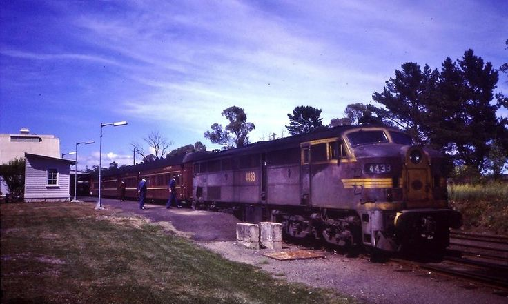 Love this style of Engine,1984, 4433 on the Tenterfield bound North Mail at Glen Innes, NSW.