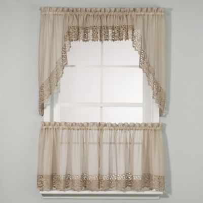 Bali Kitchen Window Curtain Tiers - BedBathandBeyond.com