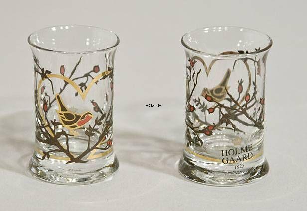 Holmegaard Juledramglas 2004, 2 stk
