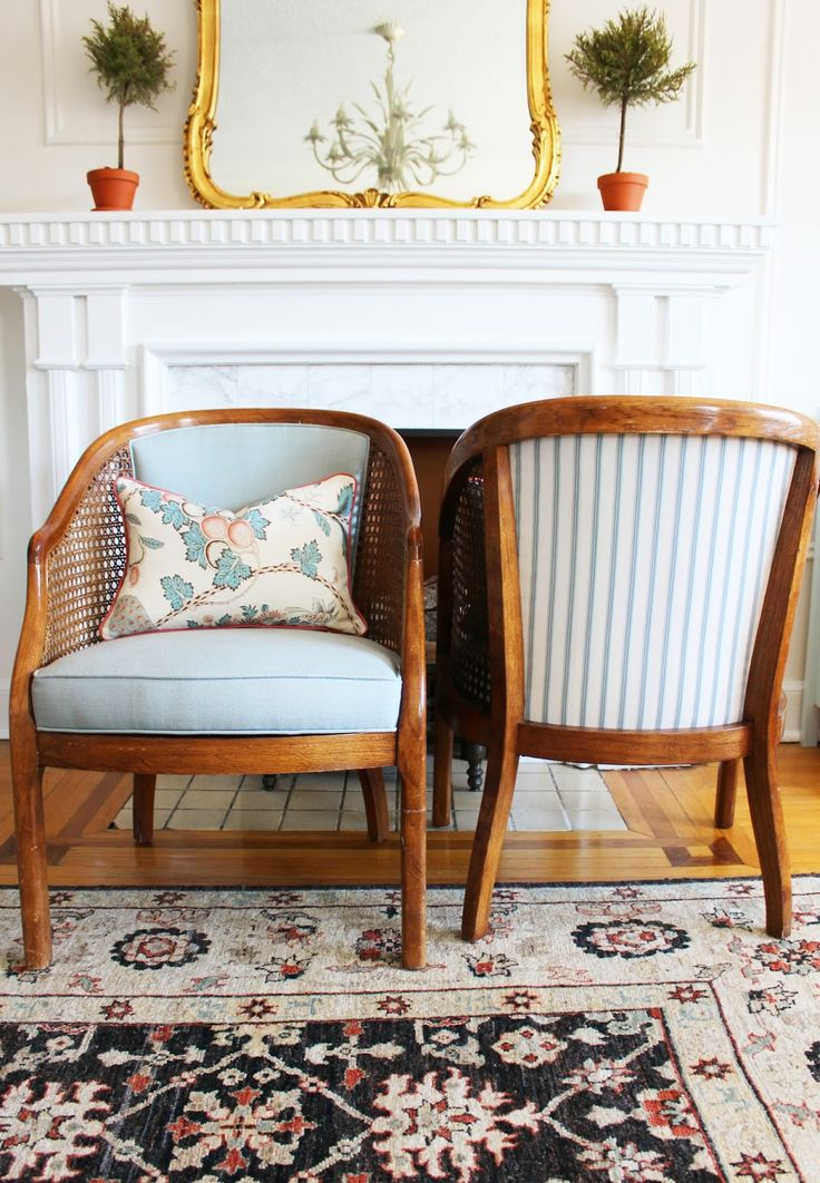 I was browsing craigslist one afternoon when I saw a listing for a pair of vintage cane chairs on sale at the local (okay, not local, I ...