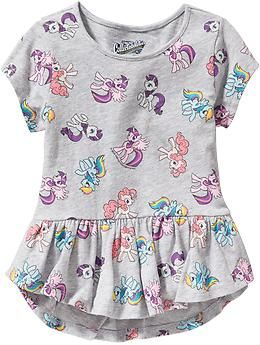 My Little Pony® Peplum-Hem Tees for Baby | Old Navy