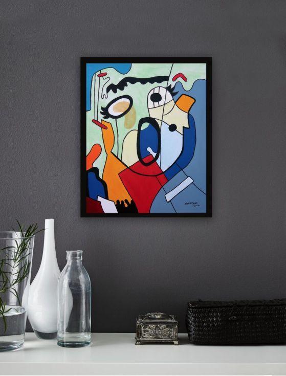 Buy Scream 5, Acrylic painting by Ninah Mars on Artfinder. #art #buyart #homedecor #interiordesign #abstract #painting #abstractpainting #artfinder #arte #contemporaryart #popart