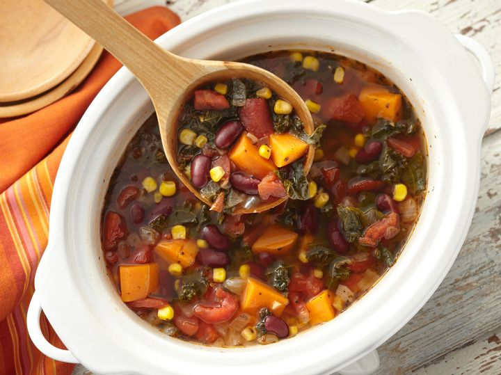 Learn how to make delicious Slow Cooker Winter Vegetable Soup.
