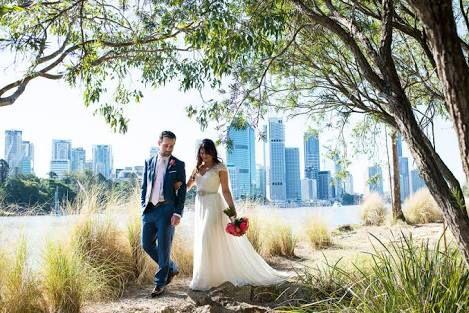 Kangaroo Point Wedding Photo