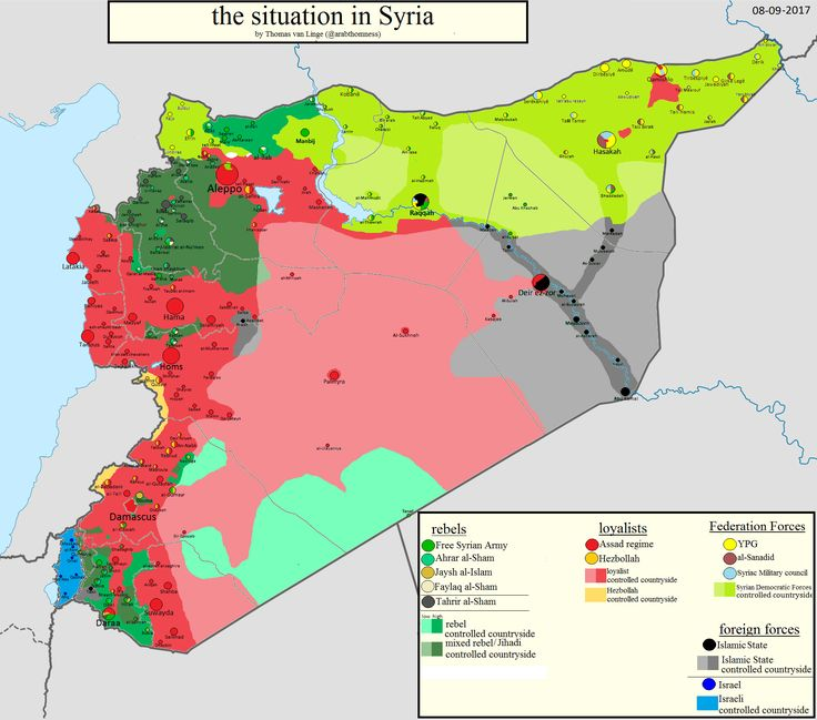 the situation in Syria 08/09/2017