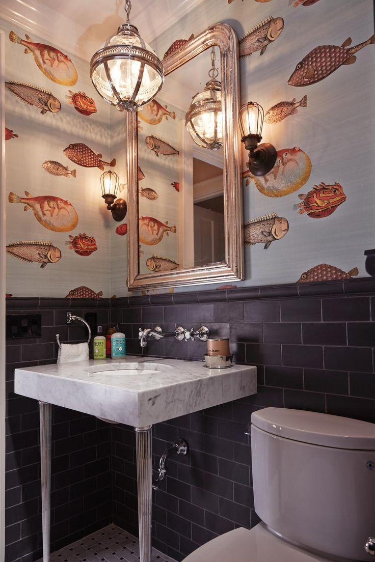 Nature bathroom wallpaper3