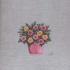Jo Butcher, Embroidery Artist - Rose Bowl