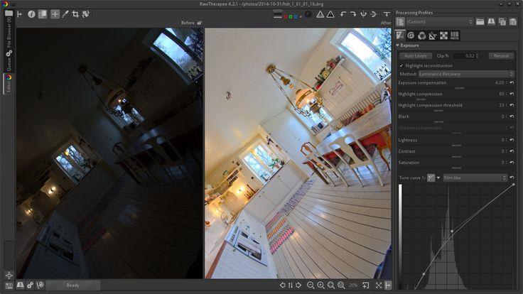 برنامج RawTherapee لتحرير الصور بإحترافية الفوتوشوب