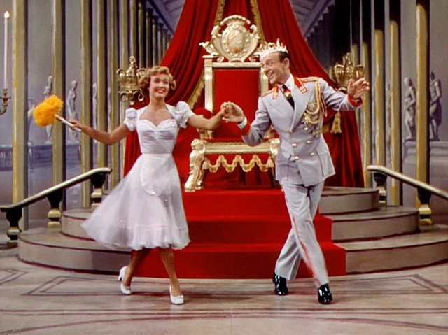 Jane Powell and Fred Astaire in '' Royal Wedding'' 1951