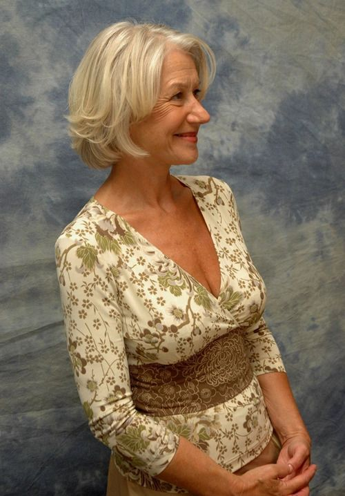gray/white and ash blonde - the lovely Helen Mirren again