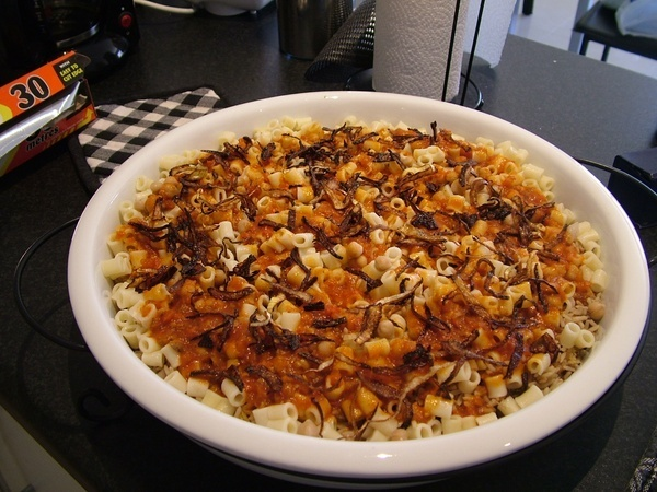 For Egyptian food lovers, try an Authentic Egyptian recipe for Kushari. around-the-world-on-a-fork food