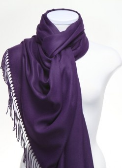 deep purple pashmina shawl, so very soft!