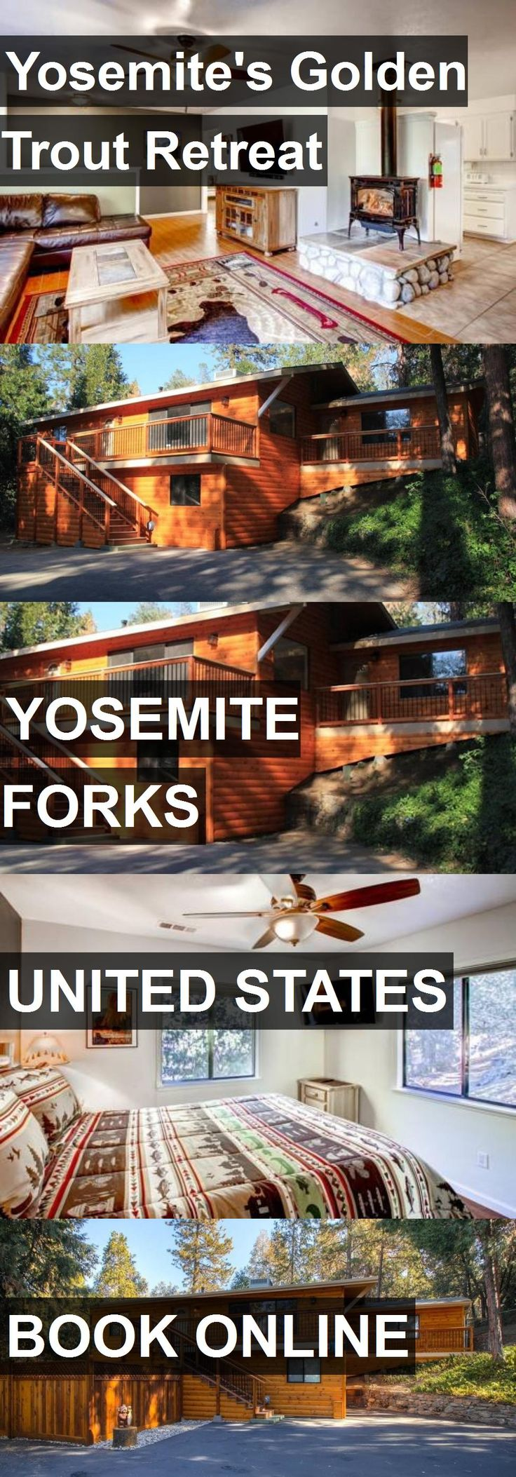 Hotel Yosemite's Golden Trout Retreat in Yosemite Forks, United States. For more information, photos, reviews and best prices please follow the link. #UnitedStates #YosemiteForks #travel #vacation #hotel