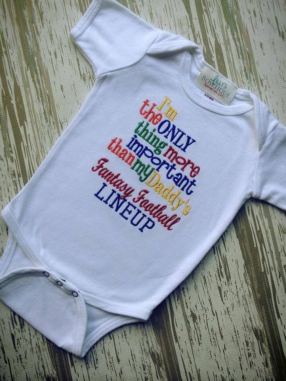 Daddy's Fantasy Football shirt by LillysBowtique on Etsy