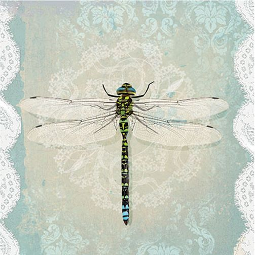 20 Paper Lunch Napkins ROMANTIC DRAGONFLY Decoupage Craft Serviettes 33x33cm in Home, Furniture & DIY, Cookware, Dining & Bar, Tableware, Serving & Linen | eBay