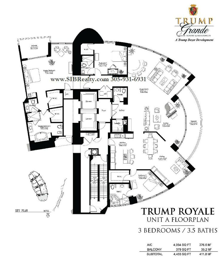 Penthouses in Miami Floor Plans | Floor Plan Trump Palace Floor Plan Trump Royale Trump International