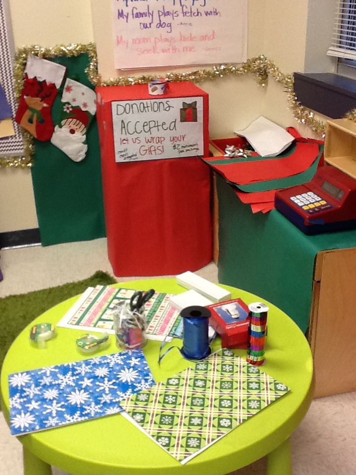 Dramatic Play Gift Wrapping Station Writing Element