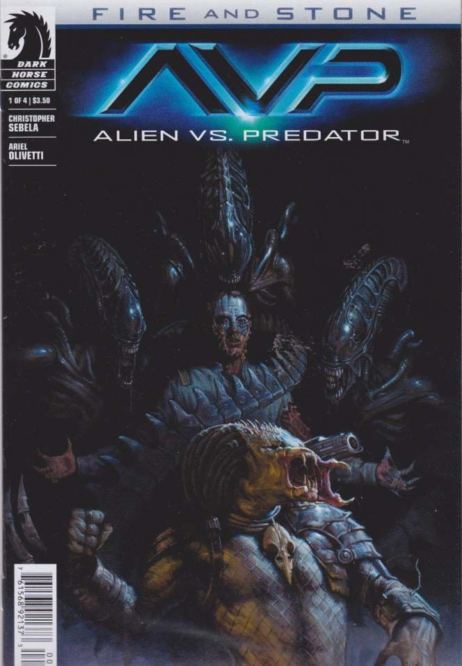 Alien vs Predator Fire and Stone #1 Regular EM Gist Cover (2014) Dark Horse As the mercenary crew of the Perses leave the horror of LV-223 behind them, one passenger reveals a terrible new danger, and the crew soon find themselves in a deadly struggle between predator and prey!