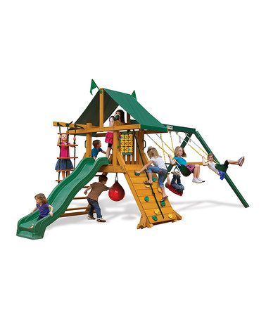 Another great find on #zulily! Latitude Swing Set by Gorilla Playsets #zulilyfinds