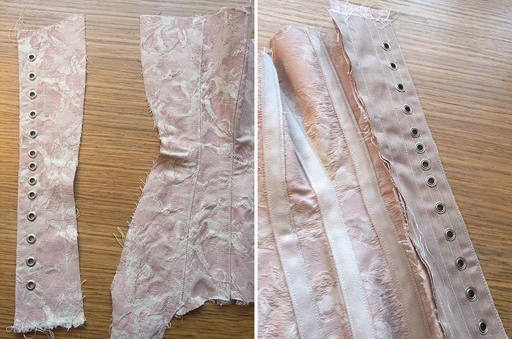 Pink Corset - Part 3 - Pattern Pieces Assemble! - Corset Training ...