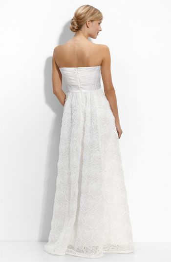 Adrianna Papell Pleat Bodice Rosette Ballgown available at #Nordstrom NZ $302