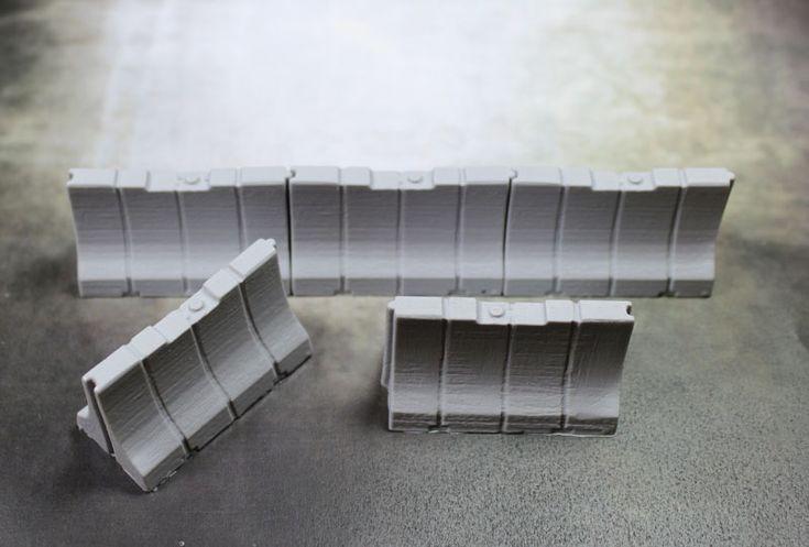 Terrain: Plastic Jersey Barriers