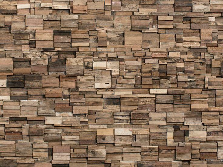Holzwand Aus Resten Beim Holzschneiden Im Bauhaus Aus Bauhaus Beim Holzschneiden Holzwand Im Resten Holzvertafelung Diy Holzwand Wandverkleidung