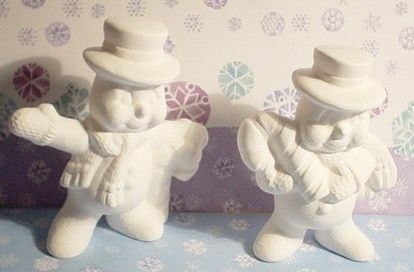 UNFINISHED UNPAINTED CERAMIC BISQUE READY by CreativeCountryGifts, $3.99