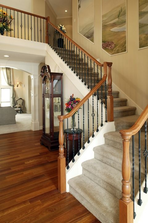 This Home Is Traditional In Style With A Large Carpeted Staircase, Hardwood  Floors And A Dark Wood Grandfather Clock. Click The Image To See How Much  It ...