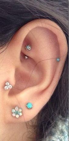 Opal Ear Piercing Jewelry at MyBodiArt