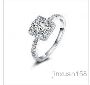 Frship!! Sier 925 Sona Gemstone 1.75 Ladies Sier Rings Wedding Ring From Jinxuan158, $52.53 | Dhgate.Com