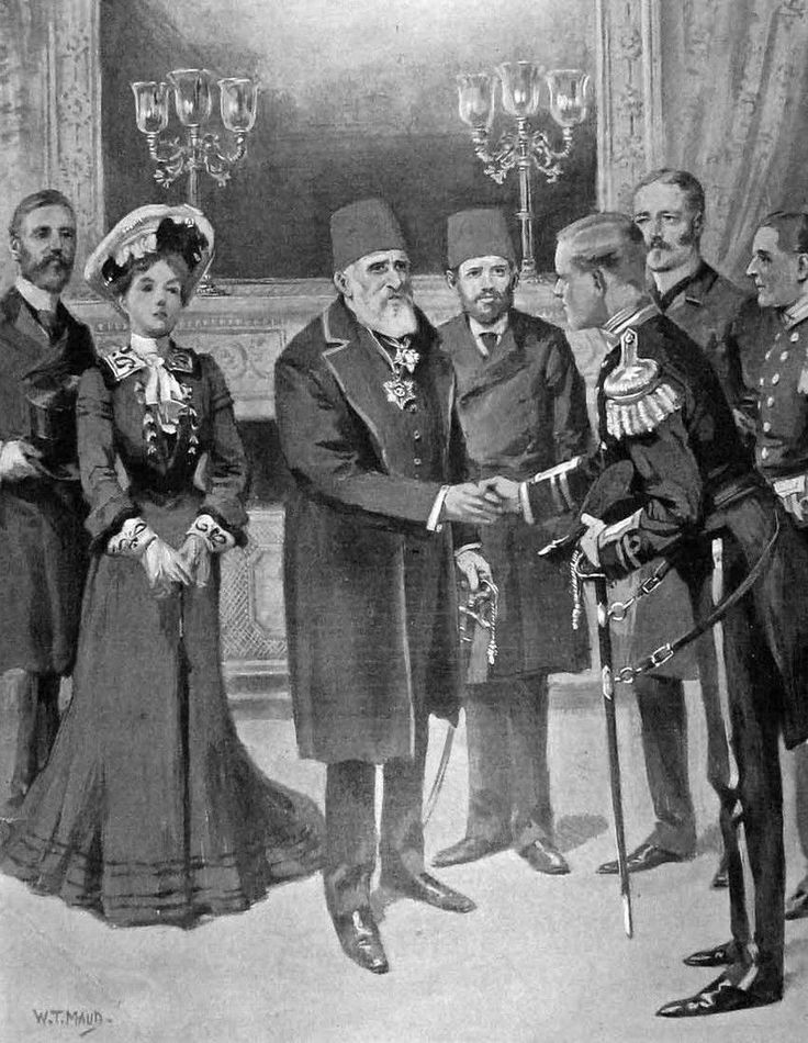 [Ottoman Empire] Reception of British Naval Officers by Sultan Abdulhamid II, Istanbul, 1902