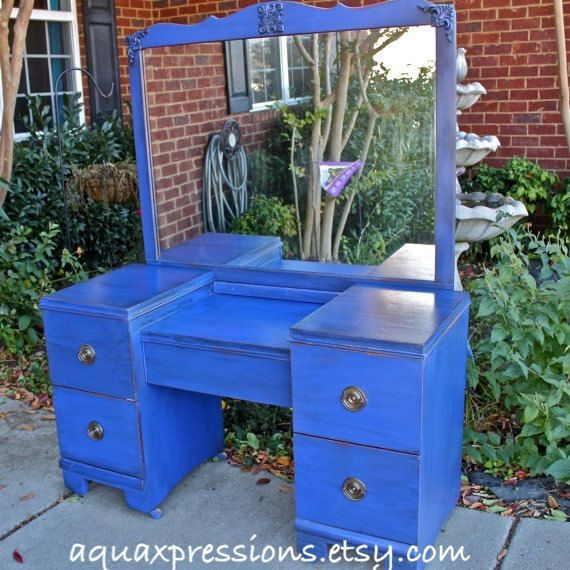 25 best ideas about blue vanity on pinterest blue - Cobalt blue bathroom accessories ...