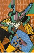 Violin And Checkerboard  by Juan Gris