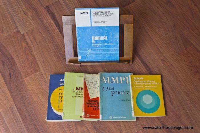 MMPI Cuestionario de personalidad MMPI. Manual. Libros: Atlas clinicos; El MMPI en la explicació; Aplicación Inventario; MMPI. Guía práctica. MMPI Suplemento técnico e interpretación clínica